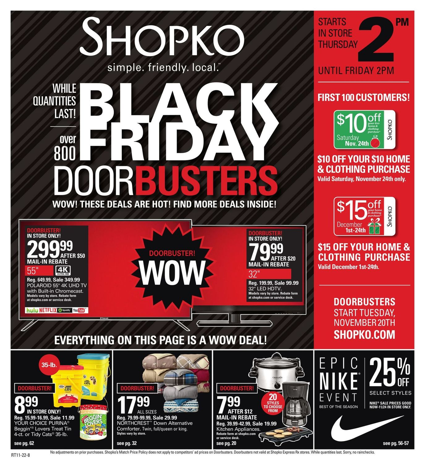 Shopko 2018 Black Friday Ad Page 1