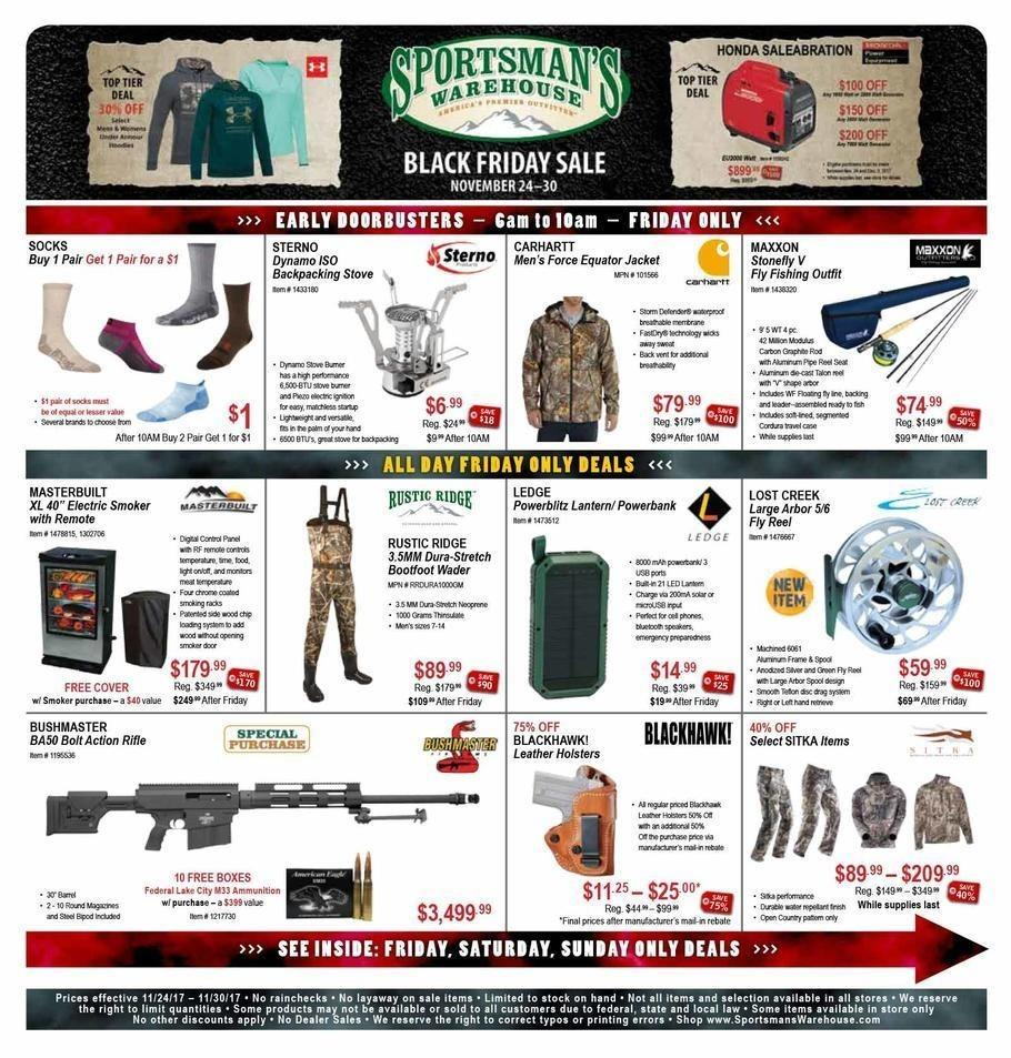 Sportsman's Warehouse 2017 Black Friday Ad Page 1