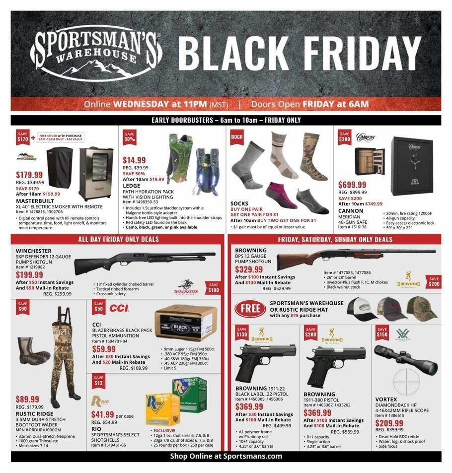 Sportsman's Warehouse 2018 Black Friday Ad Page 1