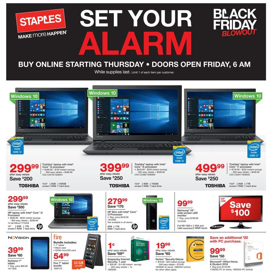 Staples 2015 Black Friday Ad Page 1