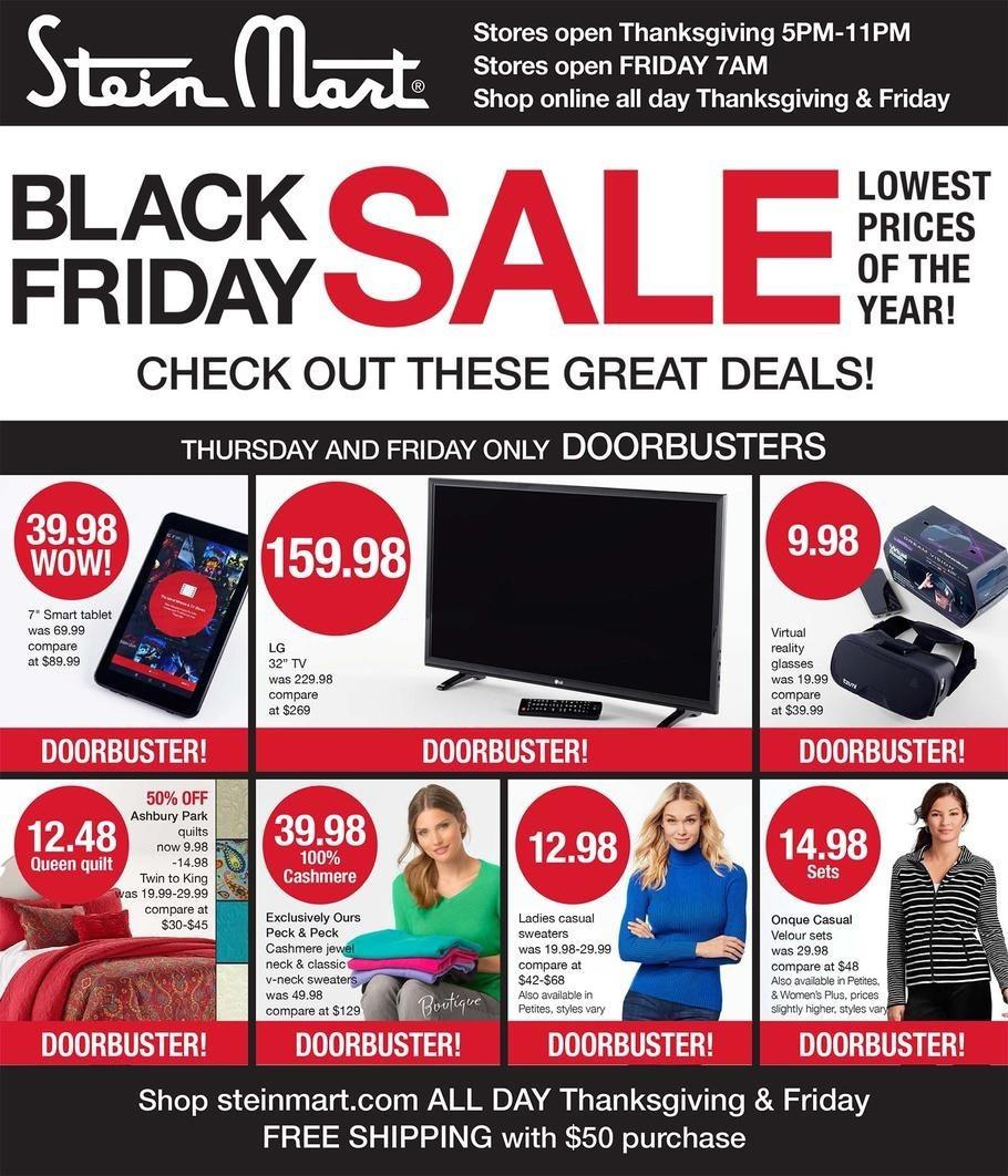 Stein Mart 2016 Black Friday Ad Page 1