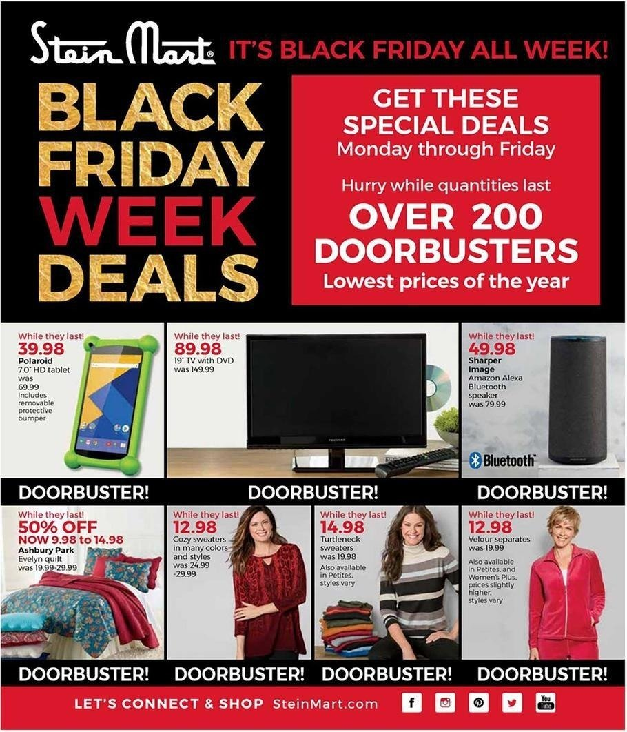 Stein Mart 2017 Black Friday Ad Page 1