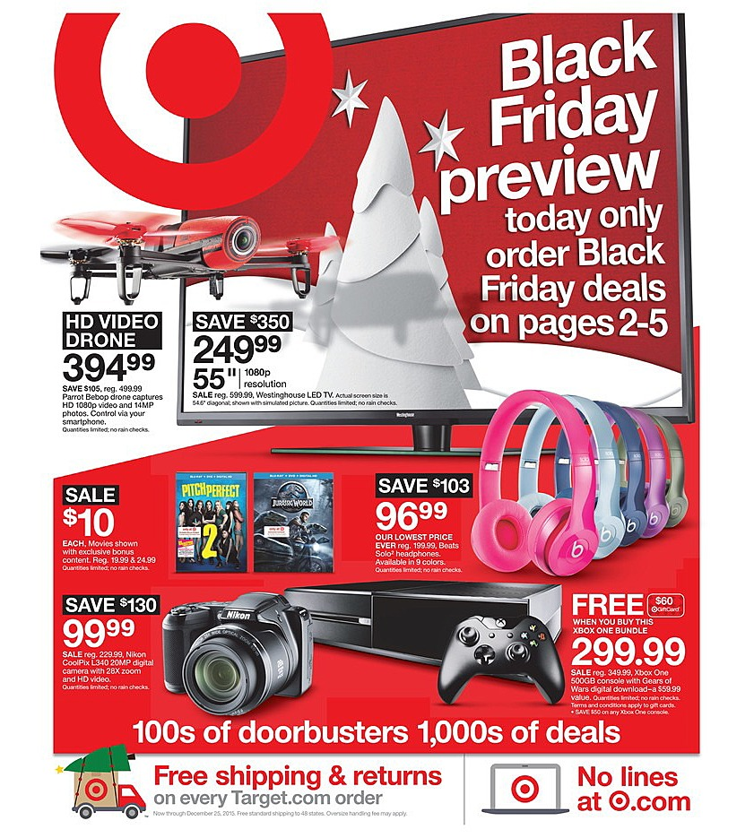 Target 2015 Black Friday Ad Page 1