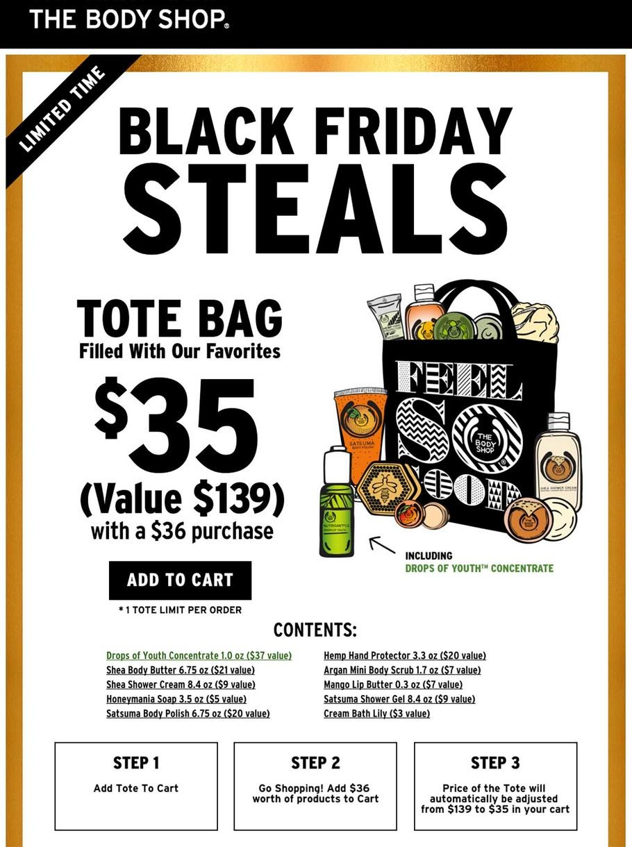 The Body Shop 2015 Black Friday Ad