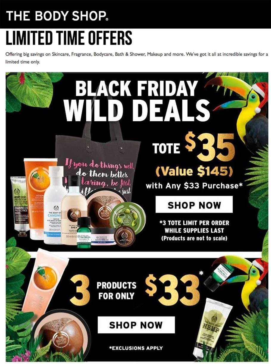 The Body Shop 2016 Black Friday Ad Page 1