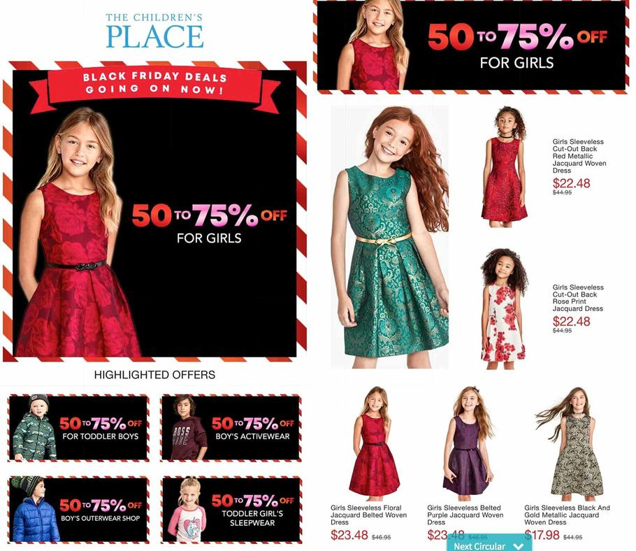 The Children's Place 2018 Black Friday Ad Page 1