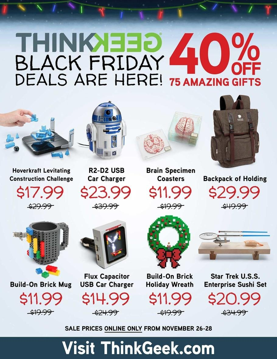 ThinkGeek 2015 Black Friday Ad Page 1