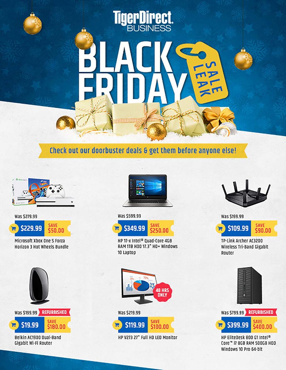 Tiger Direct 2017 Black Friday Ad Page 1
