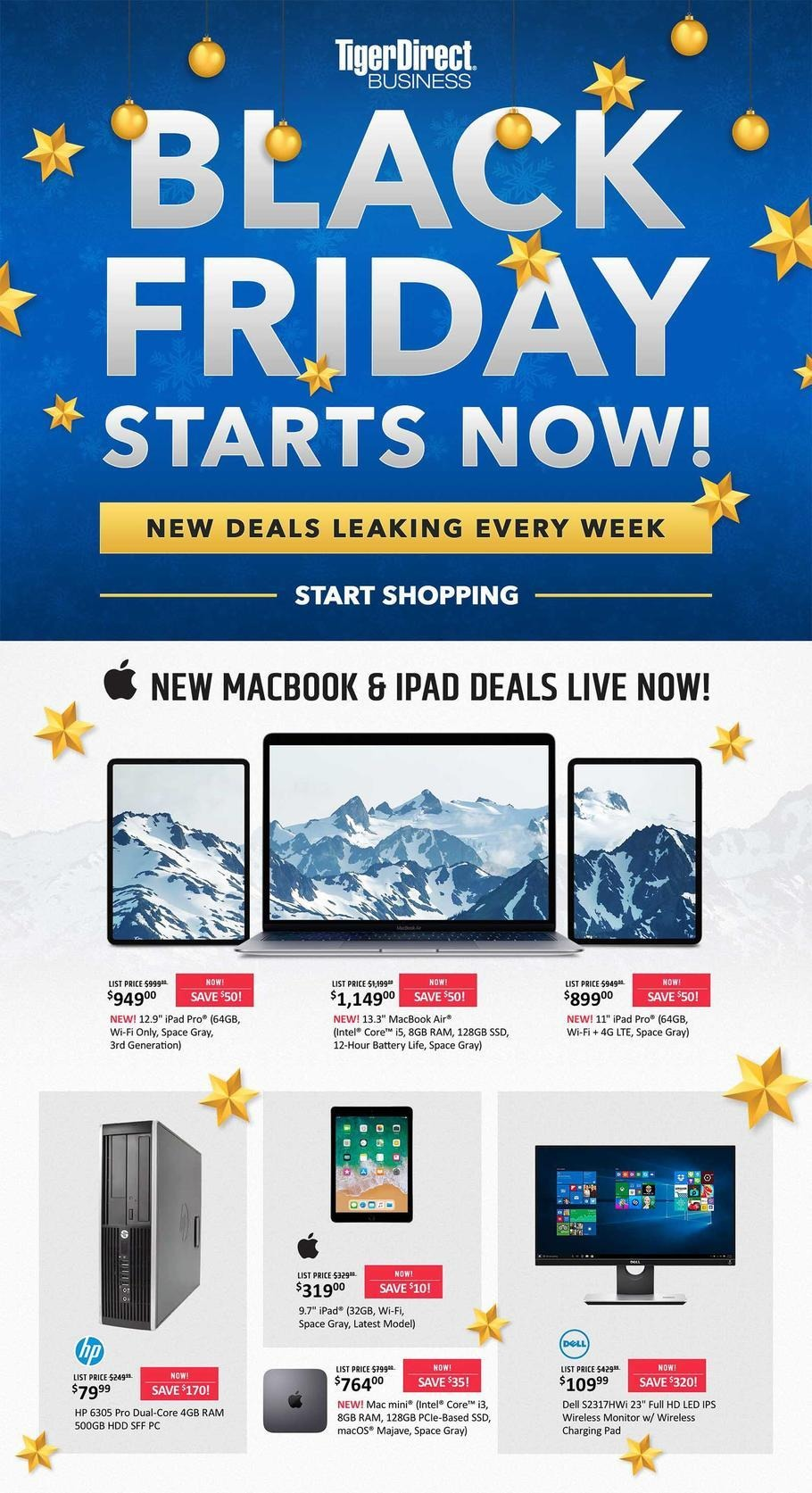 Tiger Direct 2018 Black Friday Ad Page 1