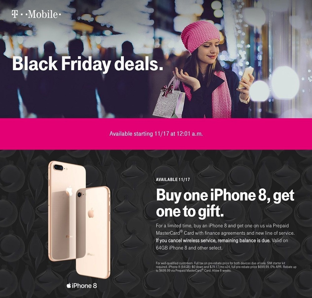 T-Mobile 2017 Black Friday Ad Page 1