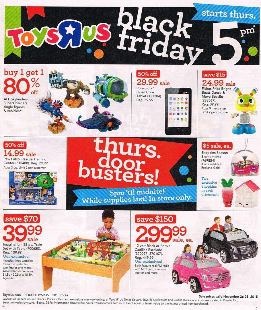 ToysRUs 2015 Black Friday Ad Page 1
