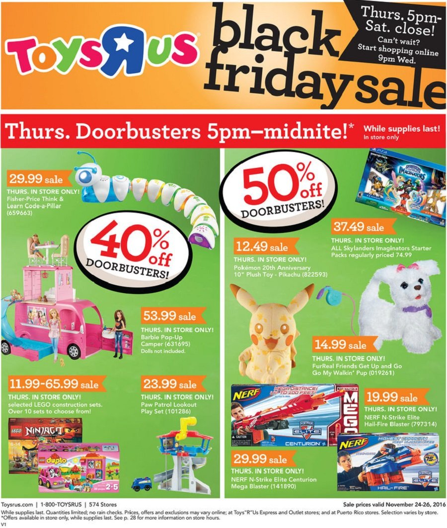 ToysRUs 2016 Black Friday Ad Page 1