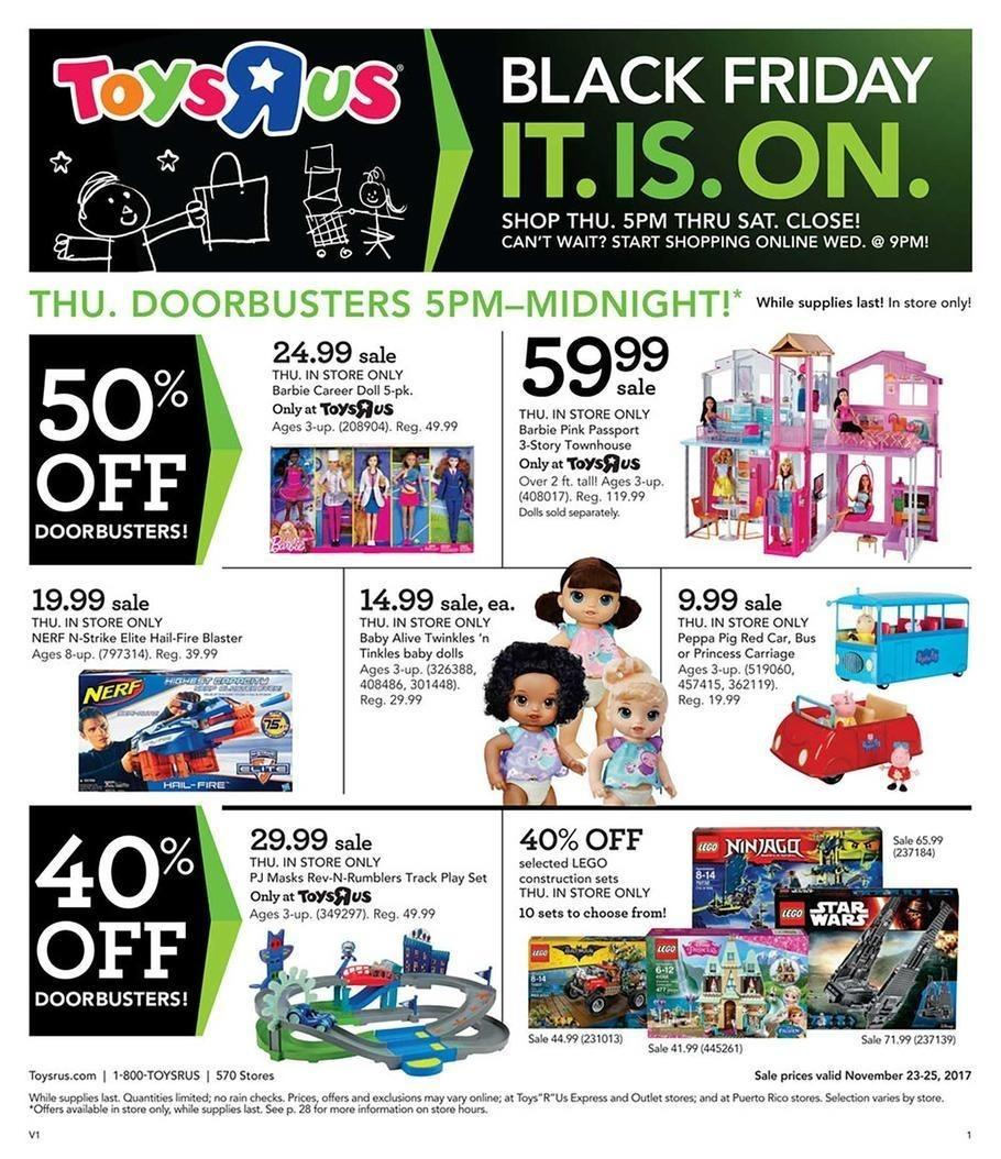 ToysRUs 2017 Black Friday Ad Page 1