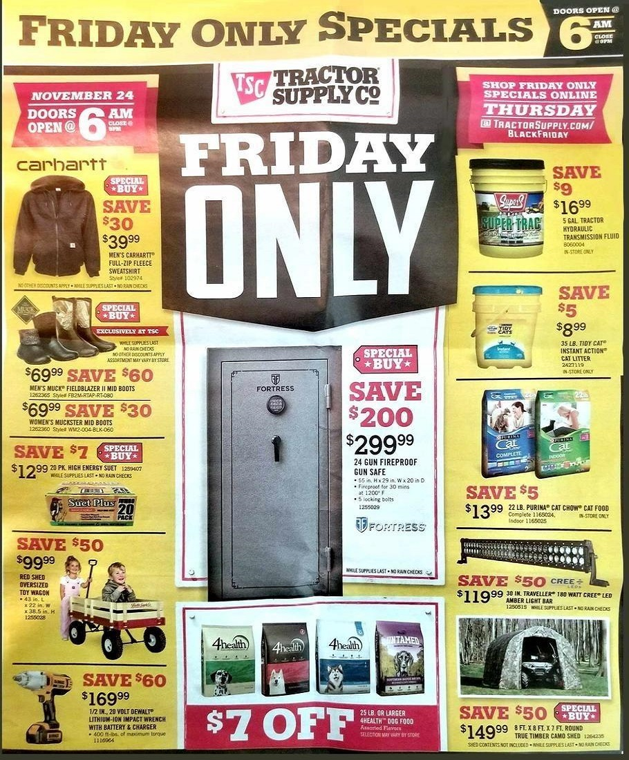 Tractor Supply Co 2017 Black Friday Ad Page 1