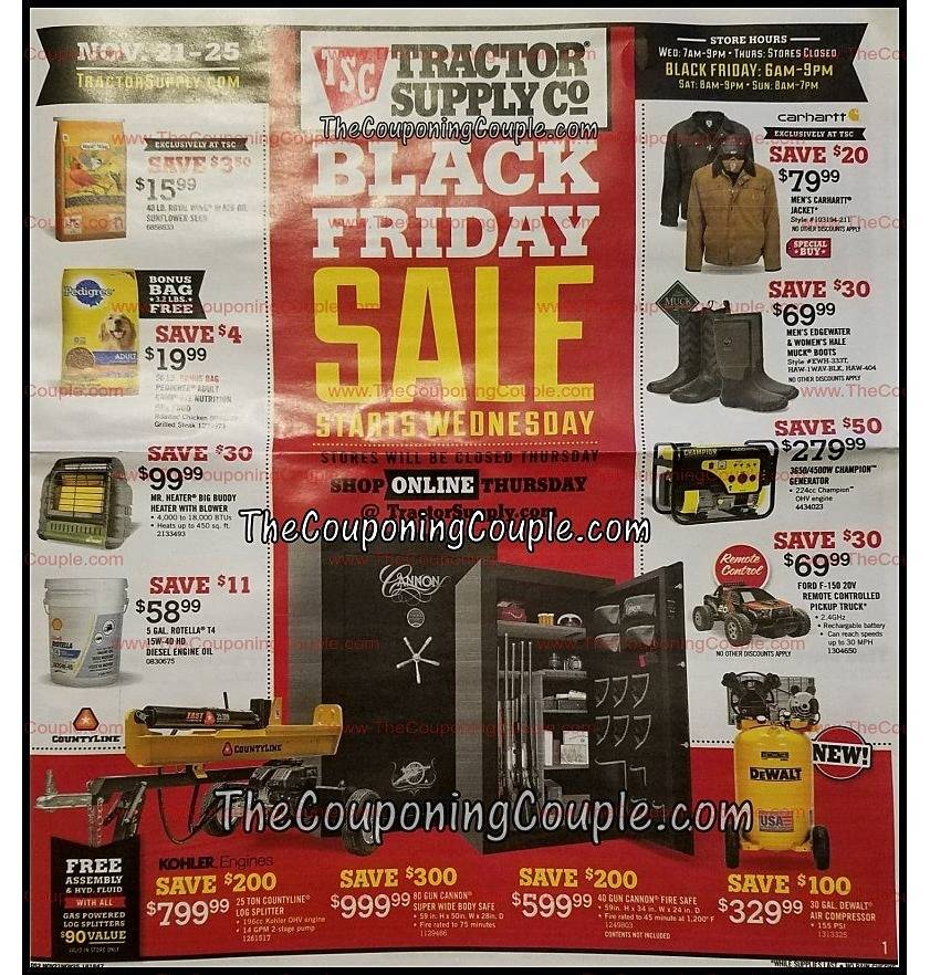 Tractor Supply Co 2018 Black Friday Ad Page 1