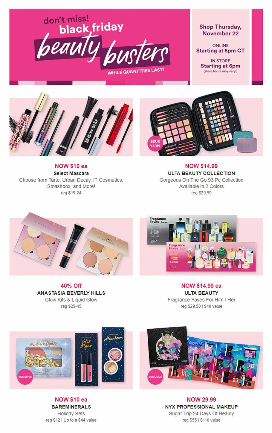 ULTA Beauty 2018 Black Friday Ad Page 1