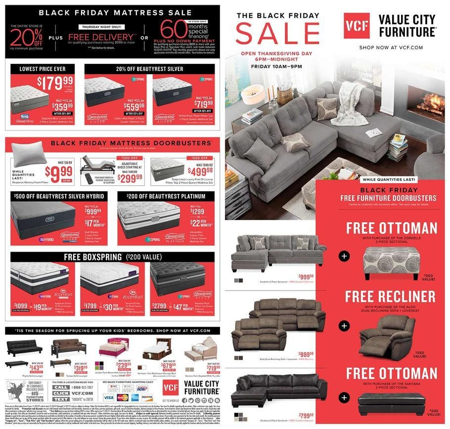 Value City Furniture 2017 Black Friday Ad Page 1