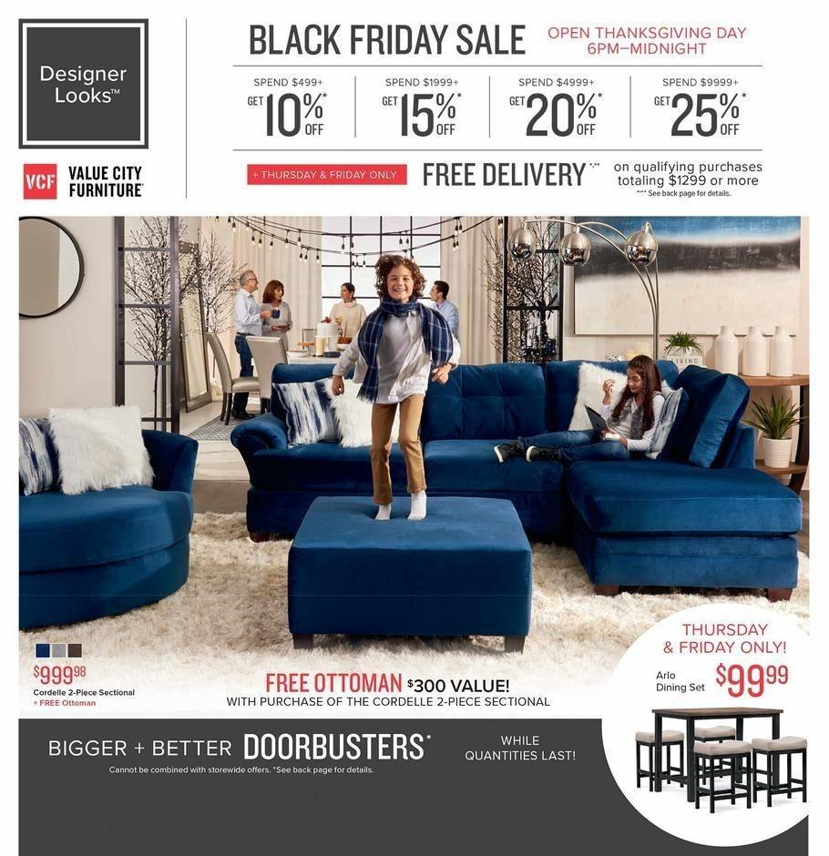 Value City Furniture 2018 Black Friday Ad Page 1