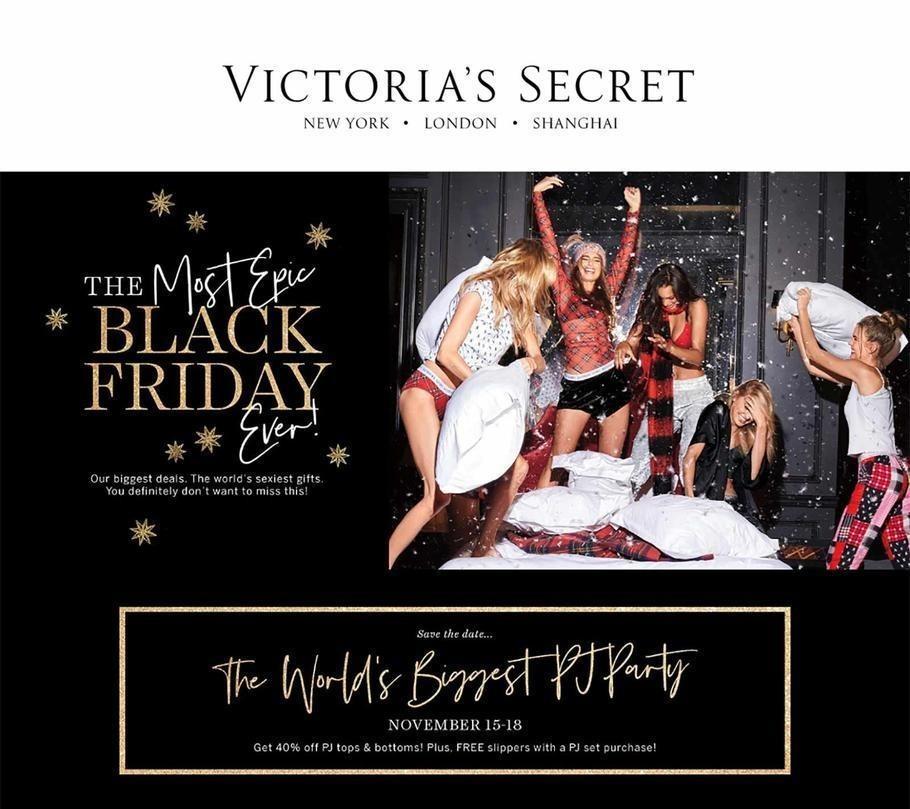 Victoria's Secret 2018 Black Friday Ad Page 1