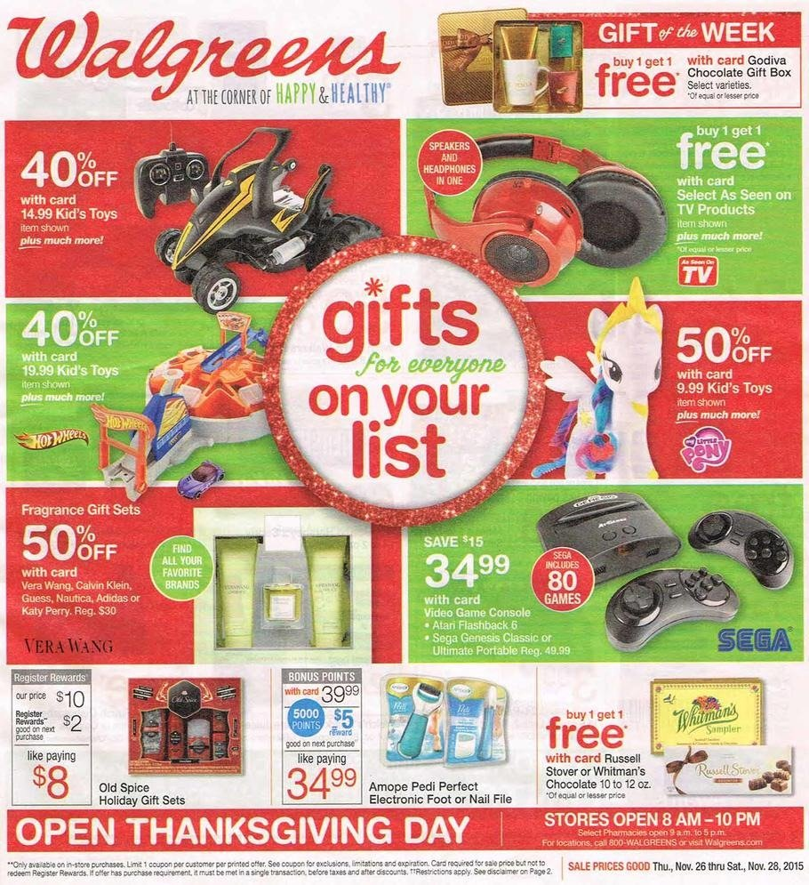 Walgreens 2015 Black Friday Ad Page 1