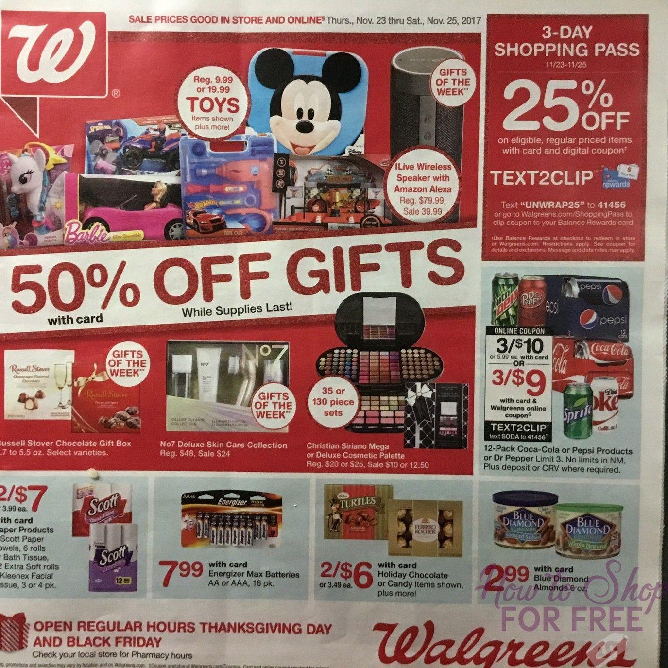 Walgreens 2017 Black Friday Ad Page 1