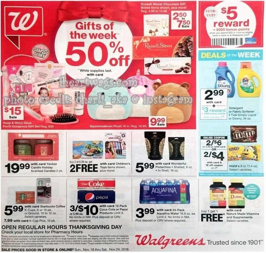 Walgreens 2018 Black Friday Ad Page 1