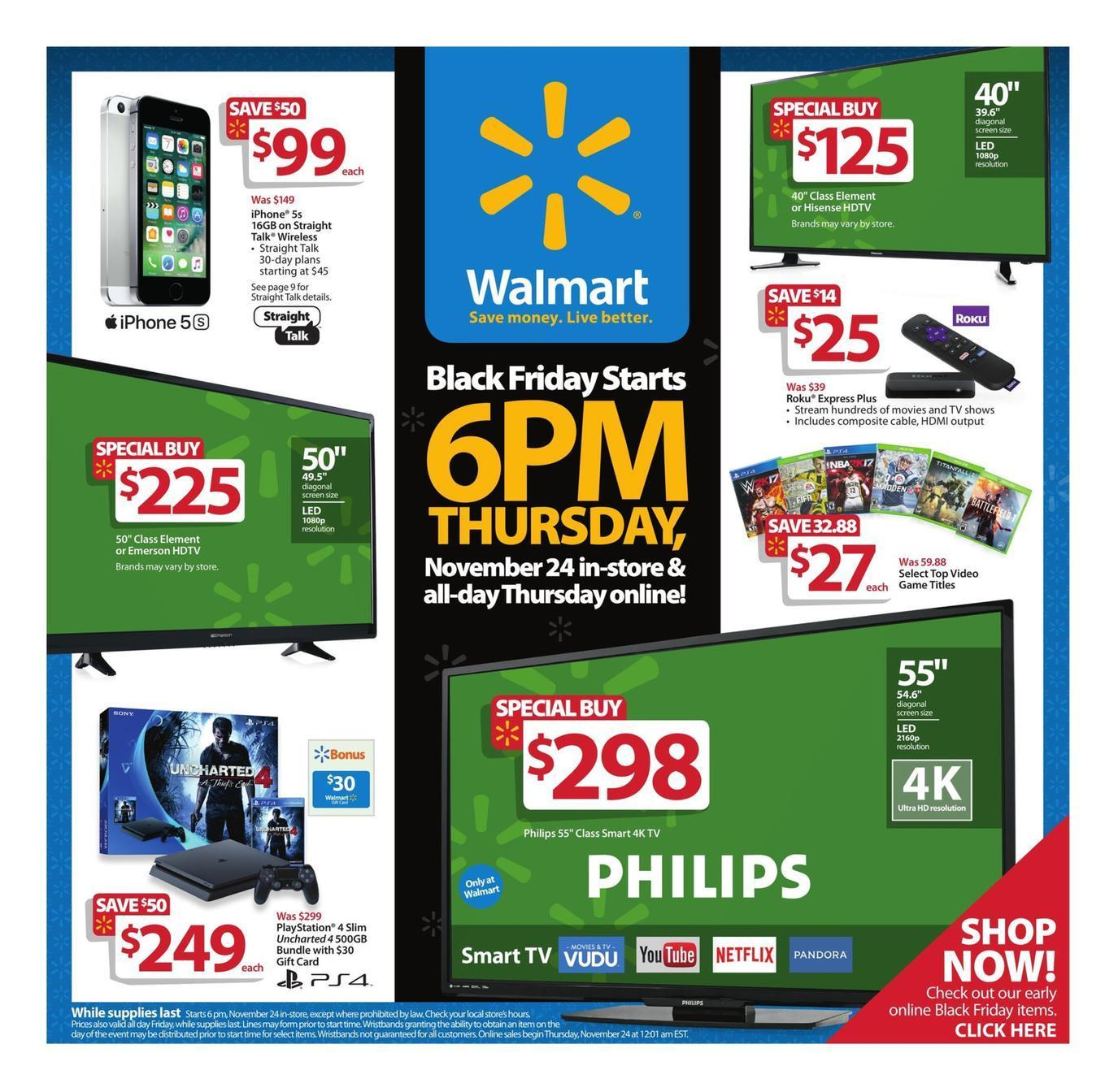 Walmart 2016 Black Friday Ad Page 1