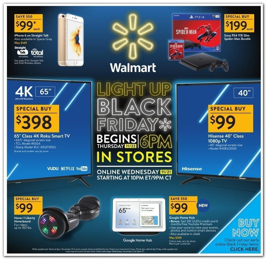 Walmart 2018 Black Friday Ad Page 1