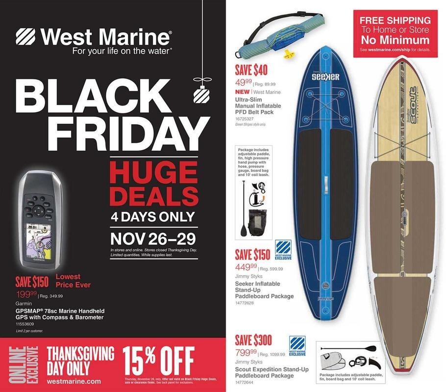 West Marine 2015 Black Friday Ad Page 1