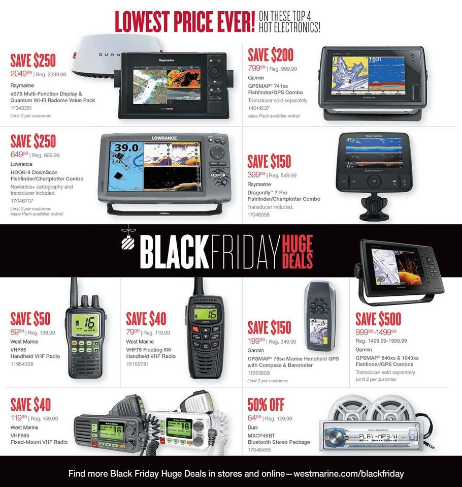 West Marine 2016 Black Friday Ad Page 1