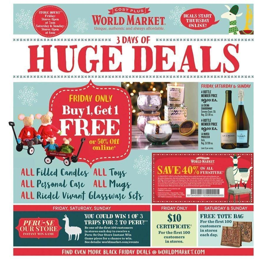 Cost Plus World Market 2017 Black Friday Ad Page 1