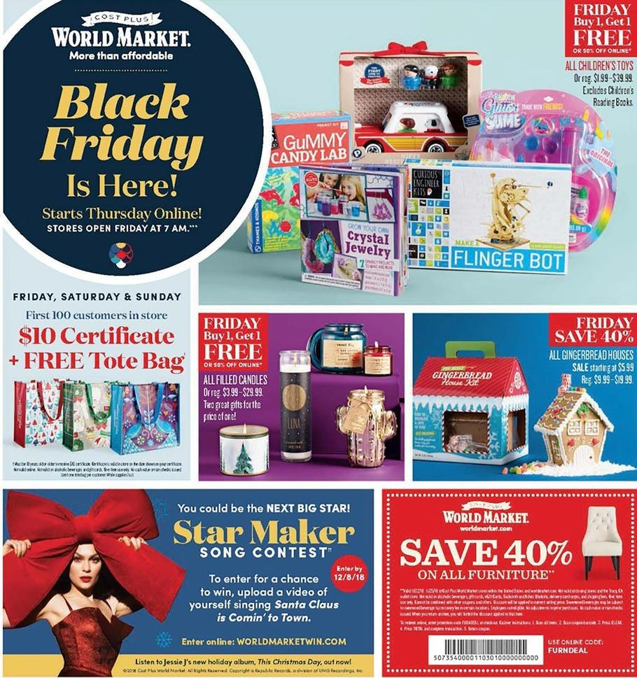 World Bazar: Cost Plus World Market 2018 Black Friday Ad Shop Now