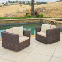 Christopher Knight Home Florence Outdoor Aluminum Club Chair