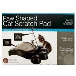 Paw Shaped Cat Scratch Pad with Dangle Toy