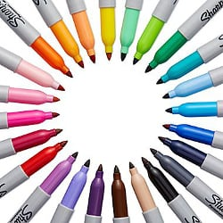 Sharpie 24-Pack Fine Point Permanent Markers (75846)