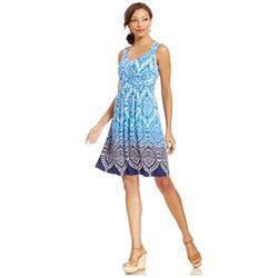 Style&co. Ombre-Print A-Line Dress