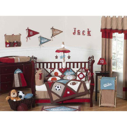 Sweet Jojo Designs All Star Sports Collection 9pc Crib Bedding Set