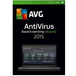 AVG AntiVirus 2015 3 User 1 Year (Download)