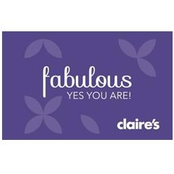 $50 Claires Gift Card