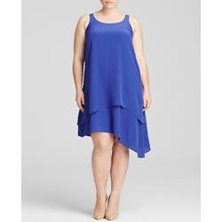 Eileen Fisher Plus Double Layer Silk Dress
