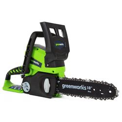 Greenworks 20182 24V Cordless Lithium-Ion Enhanced 10 in. Chain Saw Kit