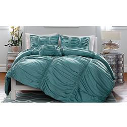 Victoria Classics Madeira Pleated 4-Piece Oversized Comforter Set