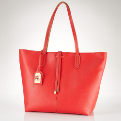 Lauren Ralph Lauren Crawley Leather Tote Handbag
