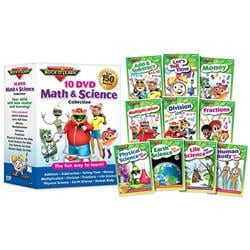 Rock N Learn Math & Science 10-DVD Collection