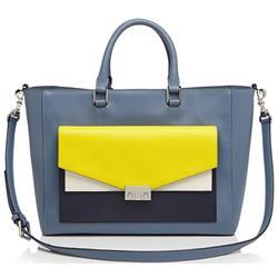 Tory Burch T-Lock Colorblock Tote Handbag