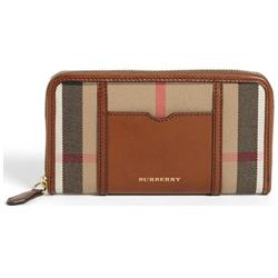 Burberry House Check Large Zip Around Wallet