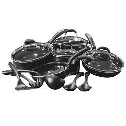 Cuisinart 15-Piece Ceramic-Coated Cookware Set (H57-15CBKGR)