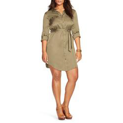 Lauren Ralph Lauren Plus Military Shirt Dress