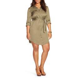 Lauren Ralph Lauren Plus Military Shirt Dress