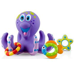 Nuby Bathtime Fun Octopus Hoopla (Purple)